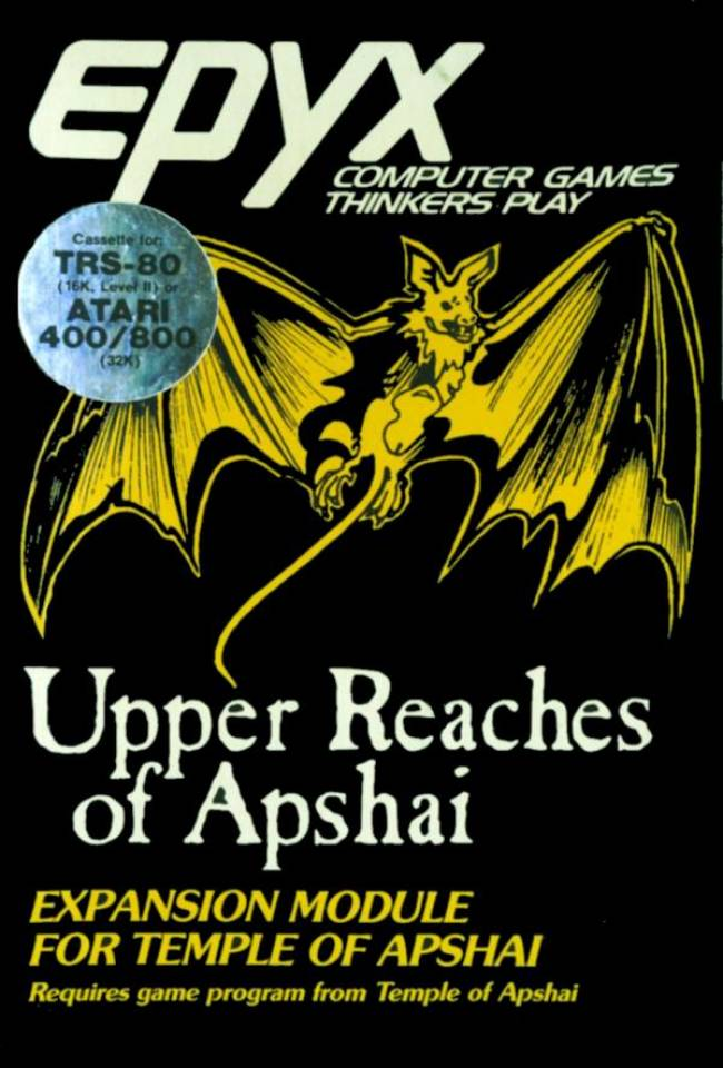 Dunjonquest: Upper Reaches of Apshai est sur jdrpg.fr
