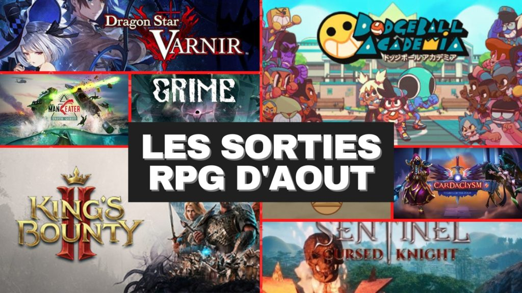 Sorties RPG aout 2021