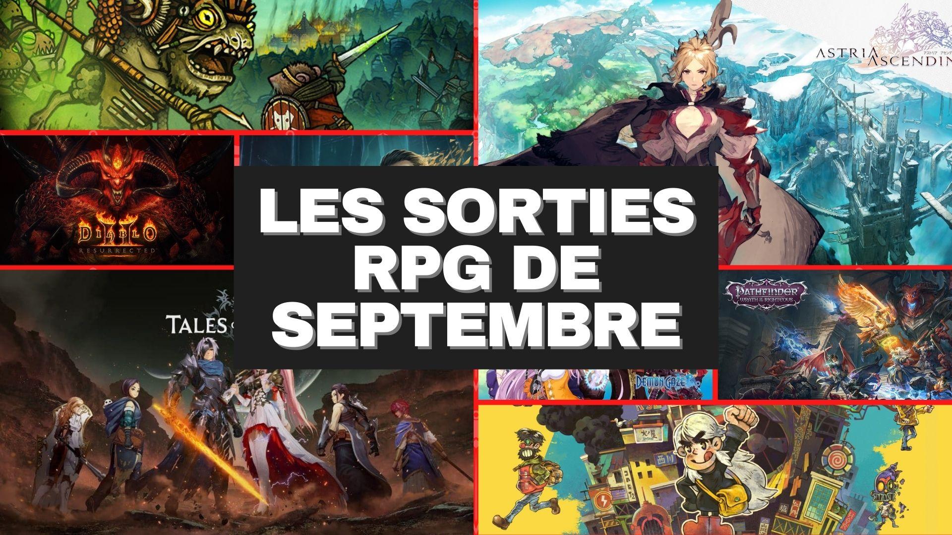 Les Sorties RPG du mois de Septembre 2021 sur jdrg.fr